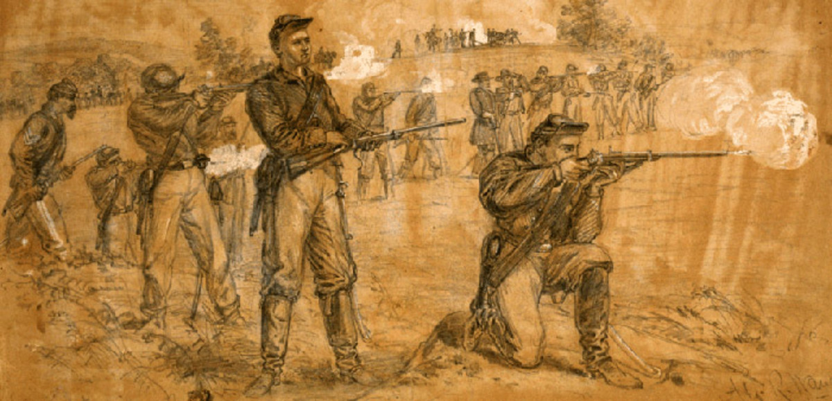 Sketch - a dismounted cavalry Skirmish Line