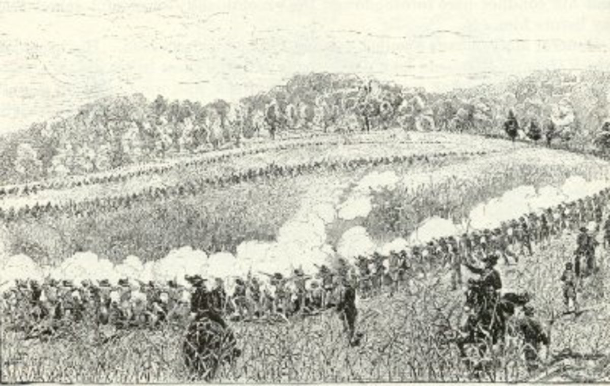 Sketch - preliminary engagement before Battle of Perryville, Oct. 1862