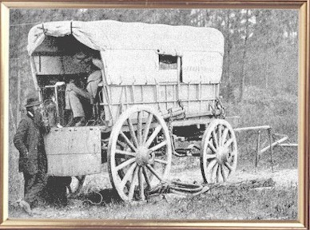 Telegraph wagon, most likely with a battery inside