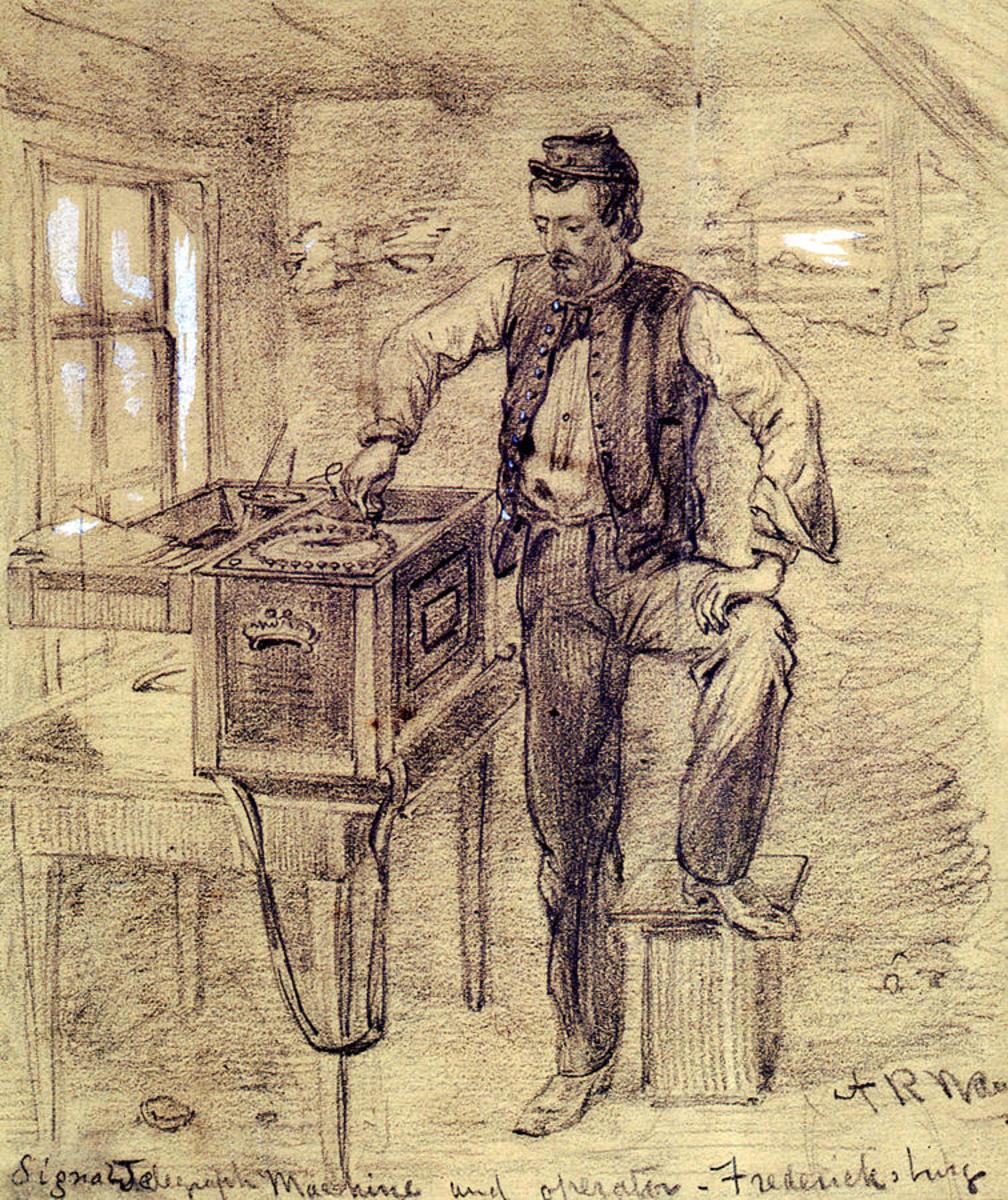 Sketch - telegraph operator