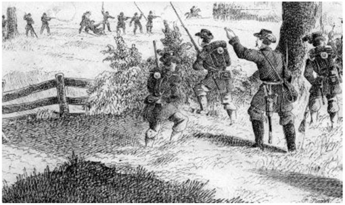 Sketch - opposing skirmishers engage each other