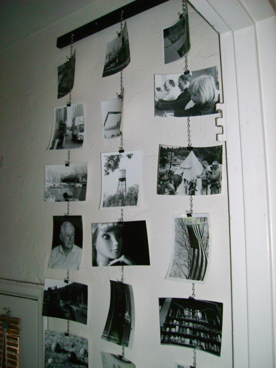A wall display is one way to use your extra photographs.