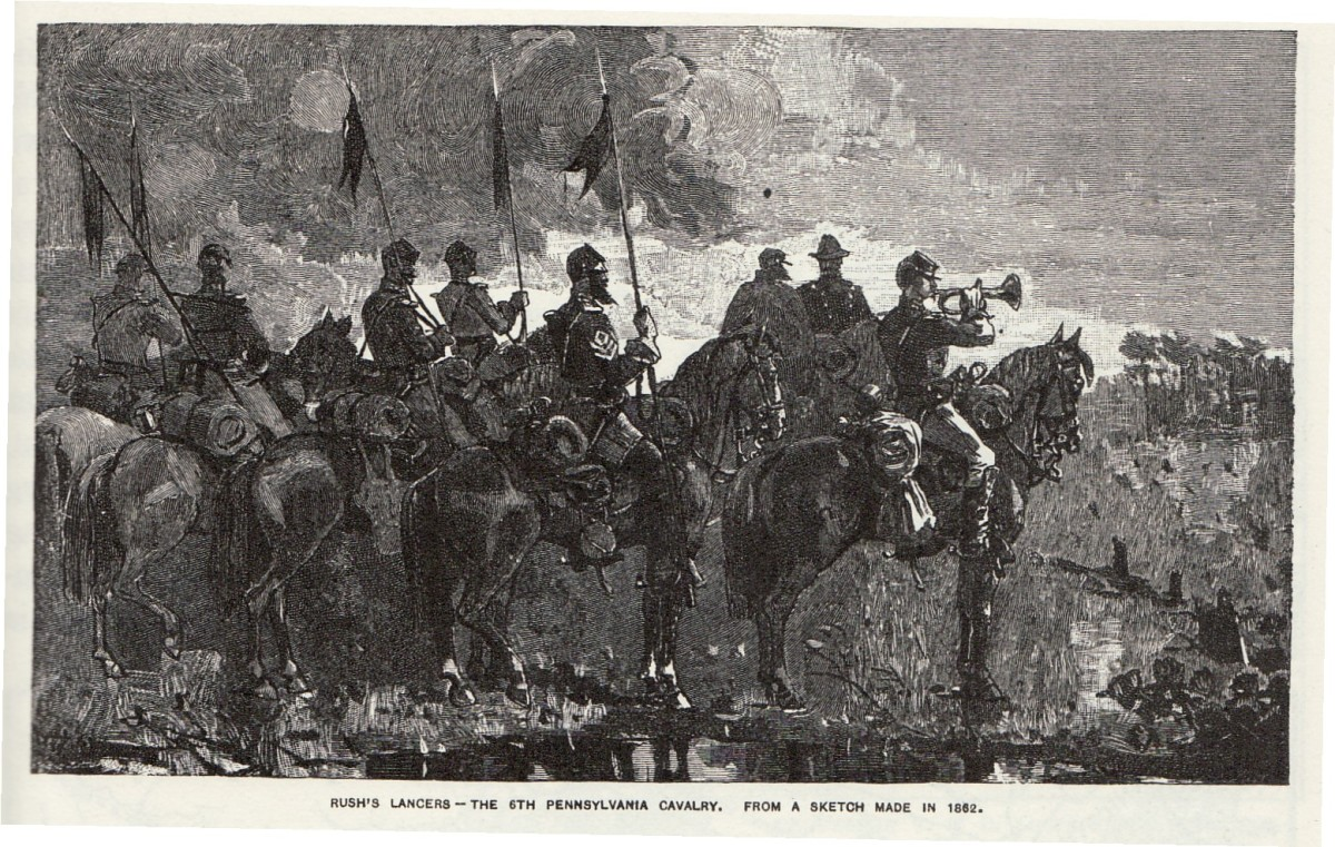 Sketch - 6th PA Cavalry Volunteers armed with lances