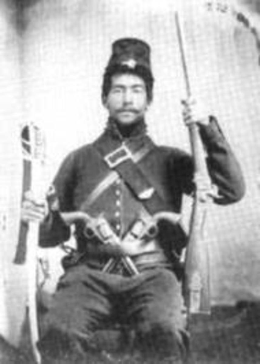 Cavalryman with Carbine, Pistols, and Saber