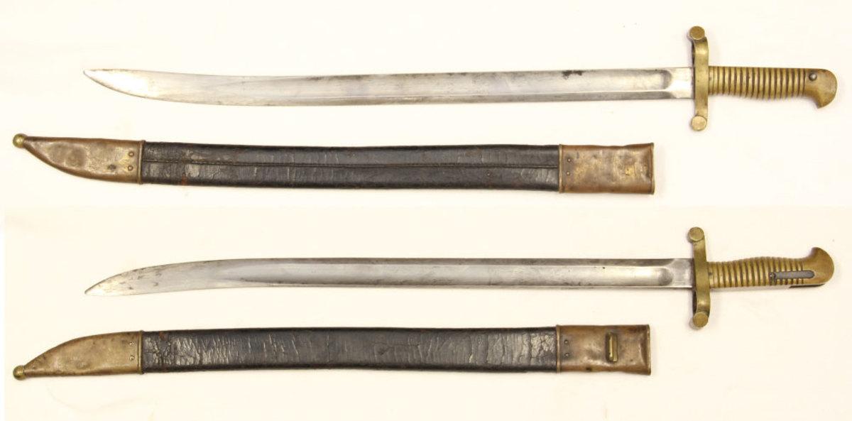 Examples of saber bayonets