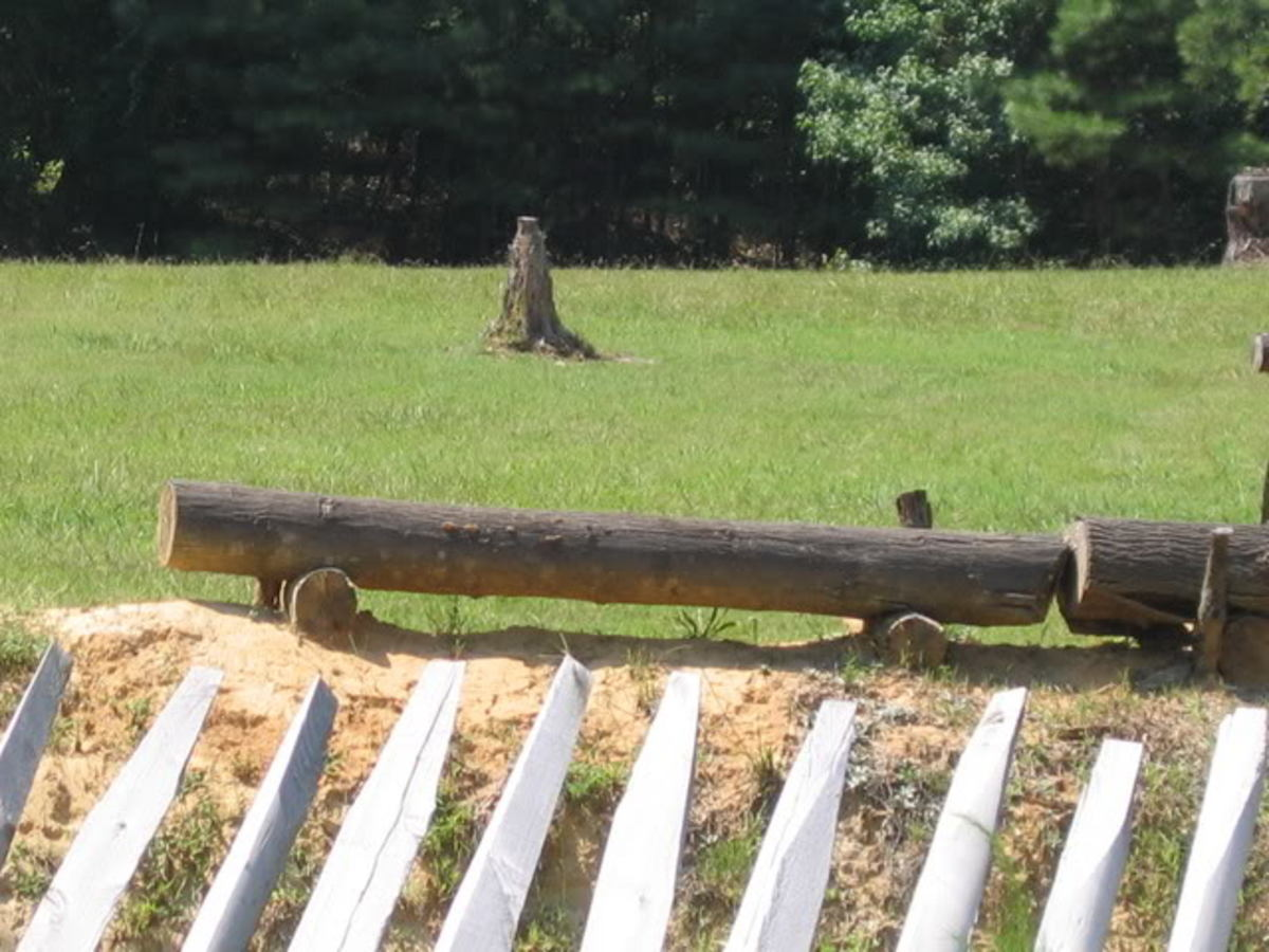 A reconstructed trench with headlogs outside Petersburg, VA