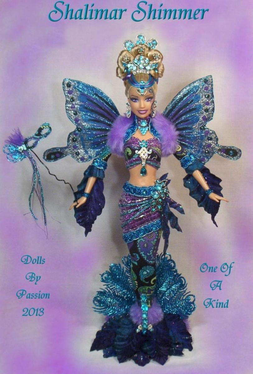 Mermaid Fairy Butterfly Wings Collector Doll Altered OOAK Custom Passion