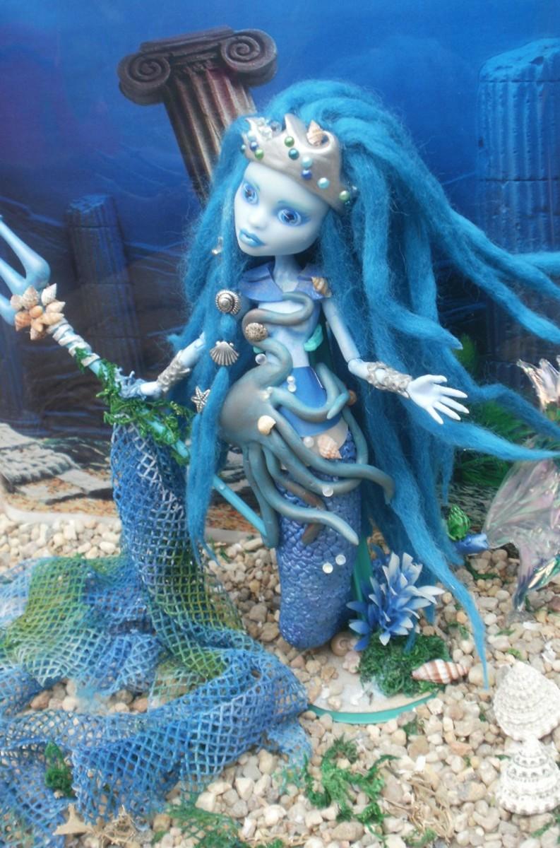 Monster high custom mermaid poseidons daughter