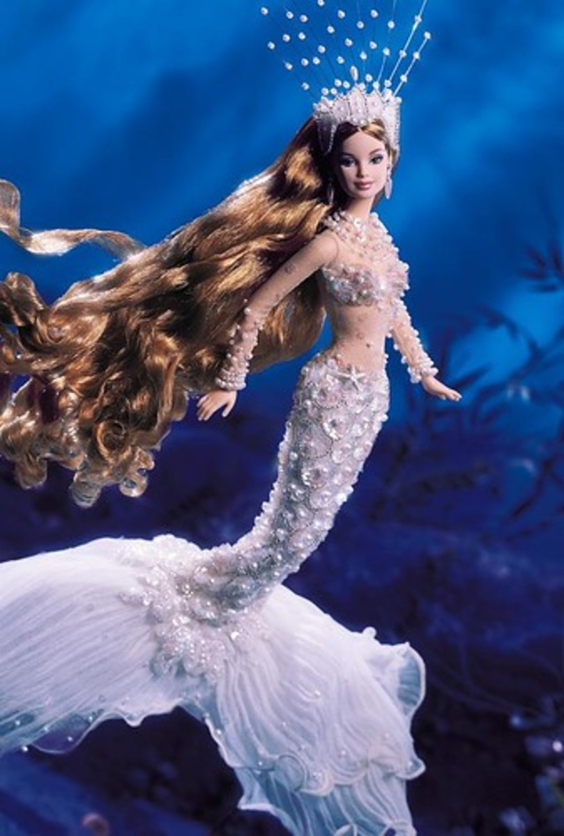 Barbie Mermaid appearing to swim underwater