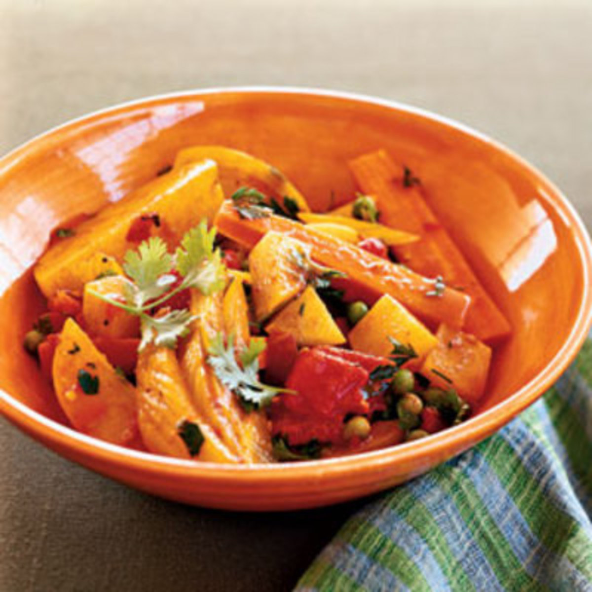 Turmeric blended into vegetables adds to and enhances the taste of the veggies.