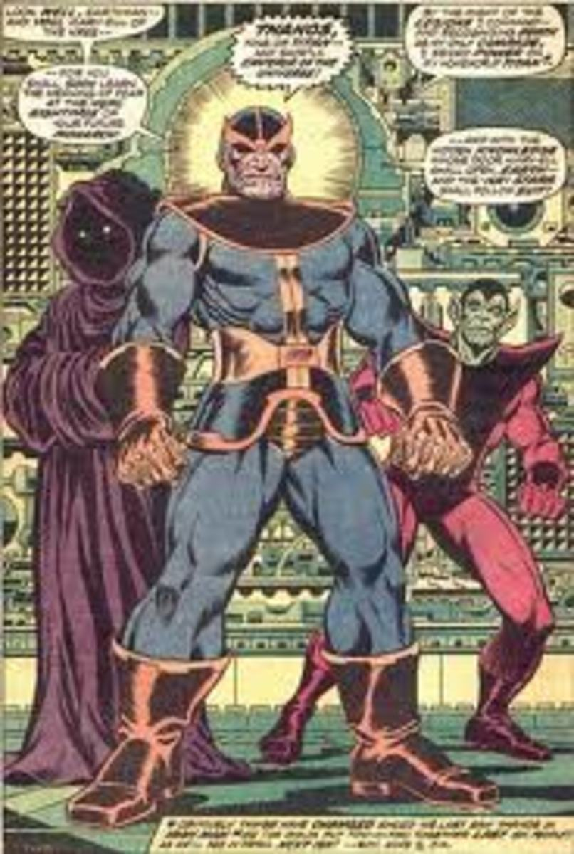 Early rendering of Thanos.