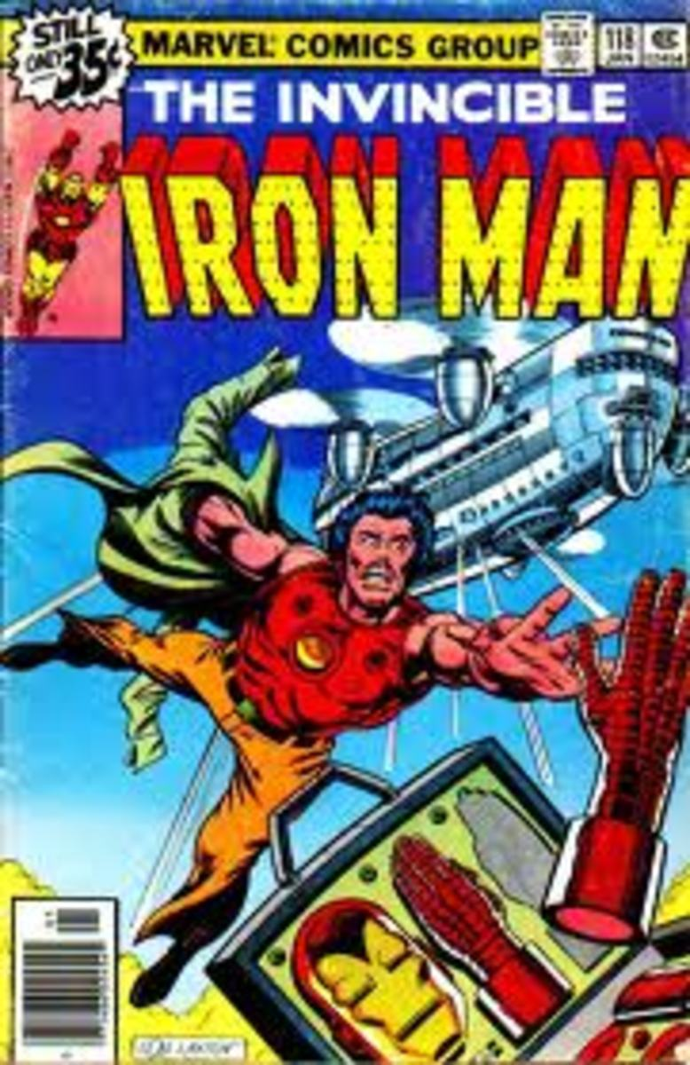 Iron Man gets tossed out of a plane and Rhodey appears for first time.