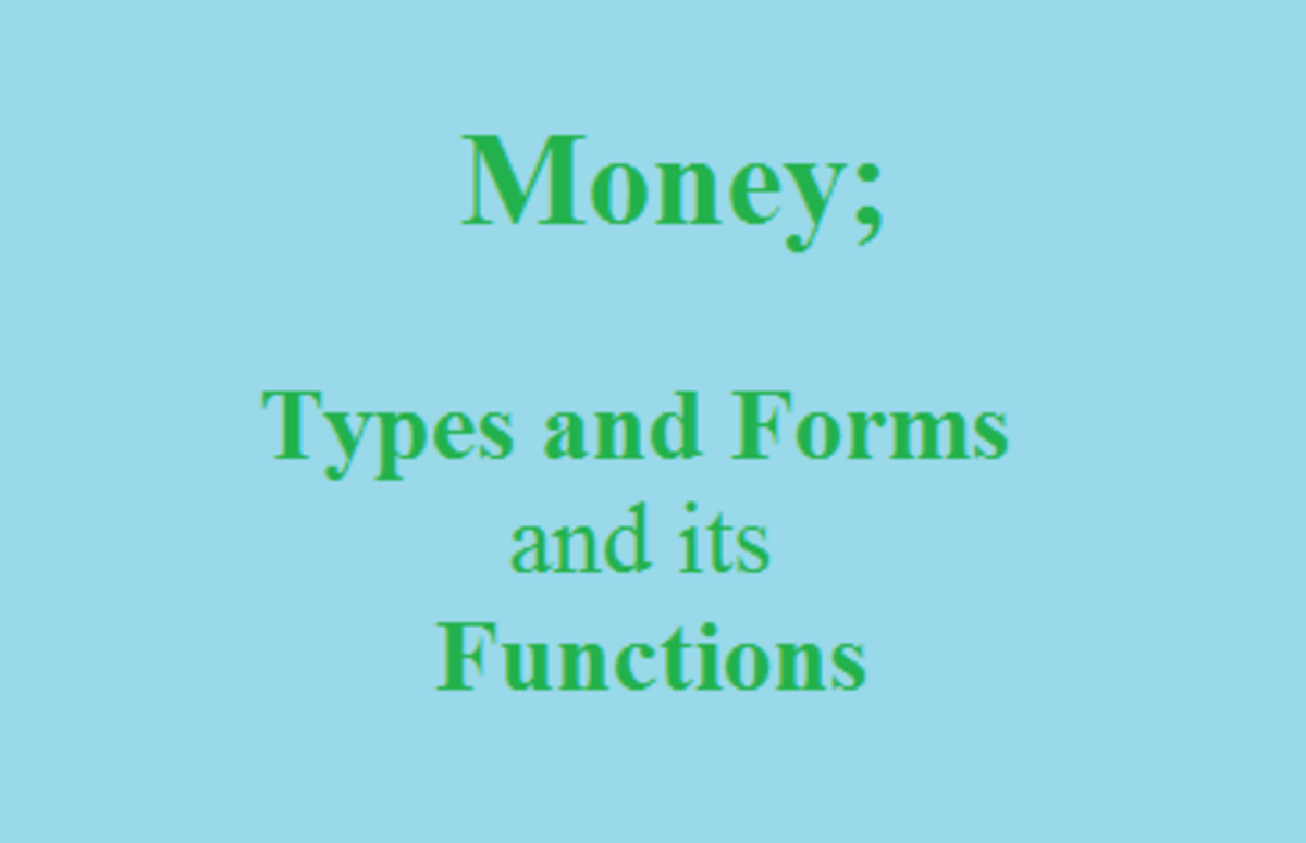 Money; Types and Forms and Its Functions
