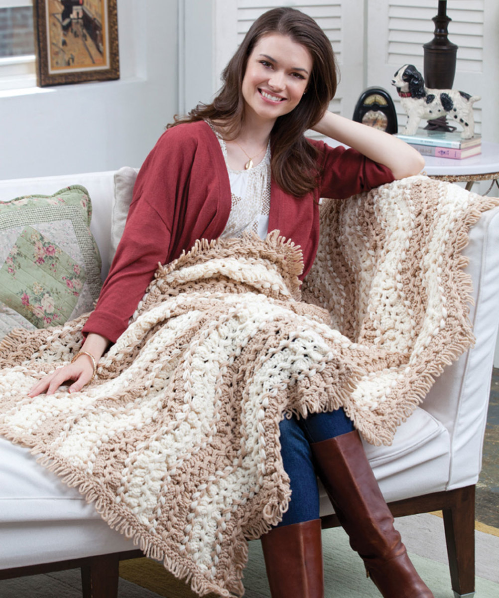 Hairpin Lace Throw - Free Pattern