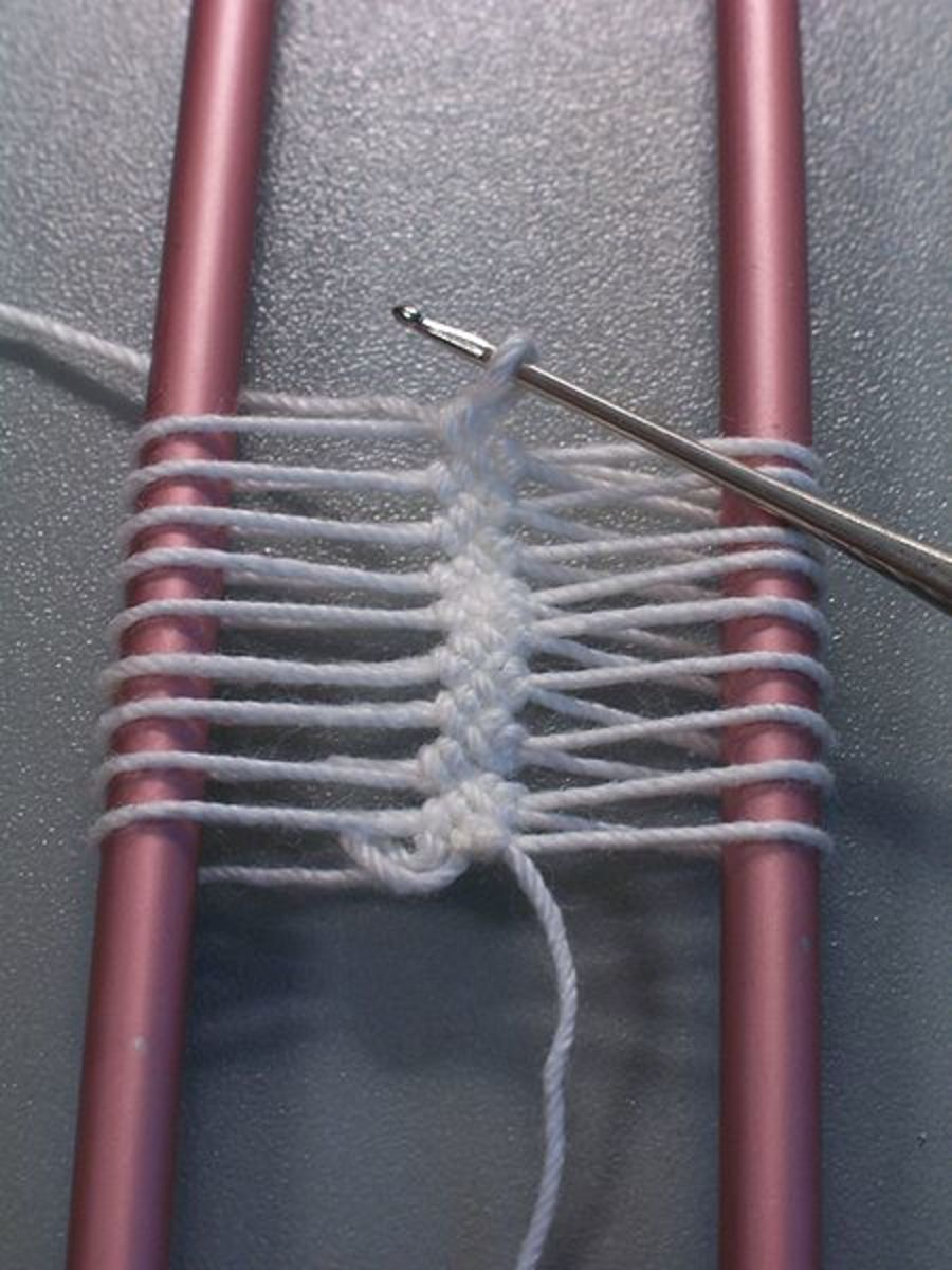 Hairpin Lace on Loom