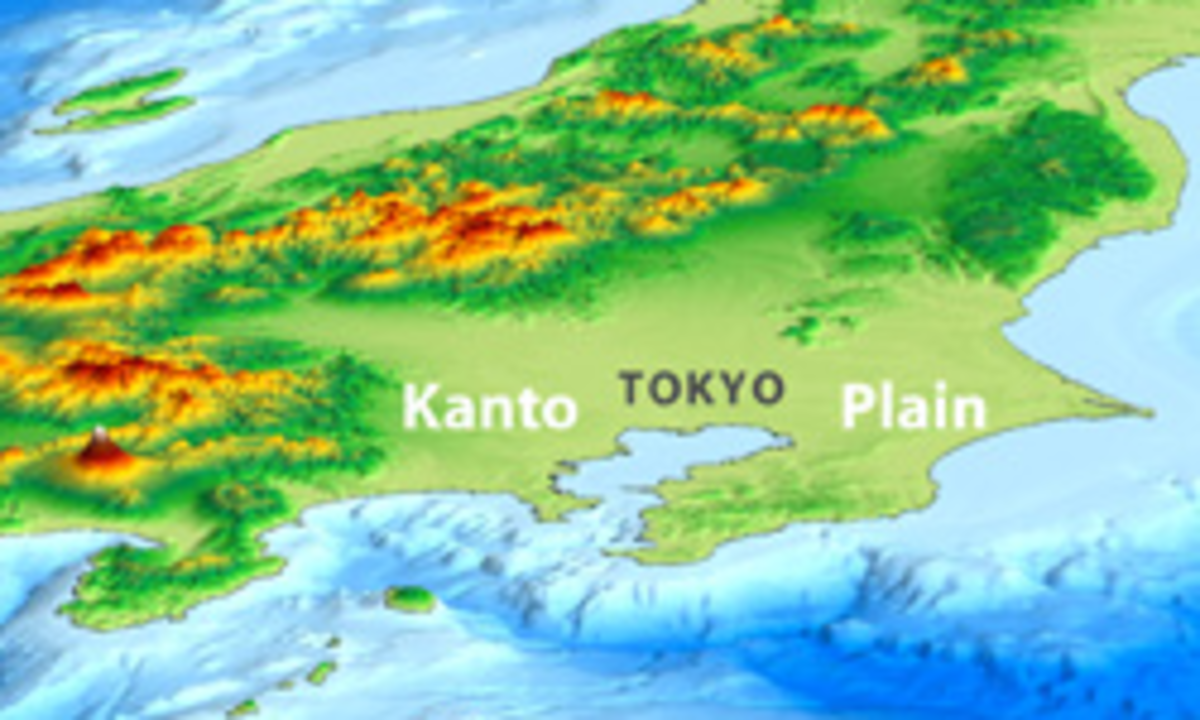 Kanto plain map