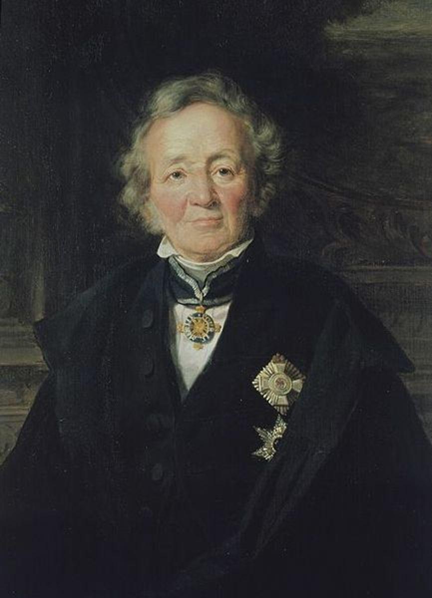 Adolf Jebens copy of Julius Schrader's portrait of Leopold von Ranke