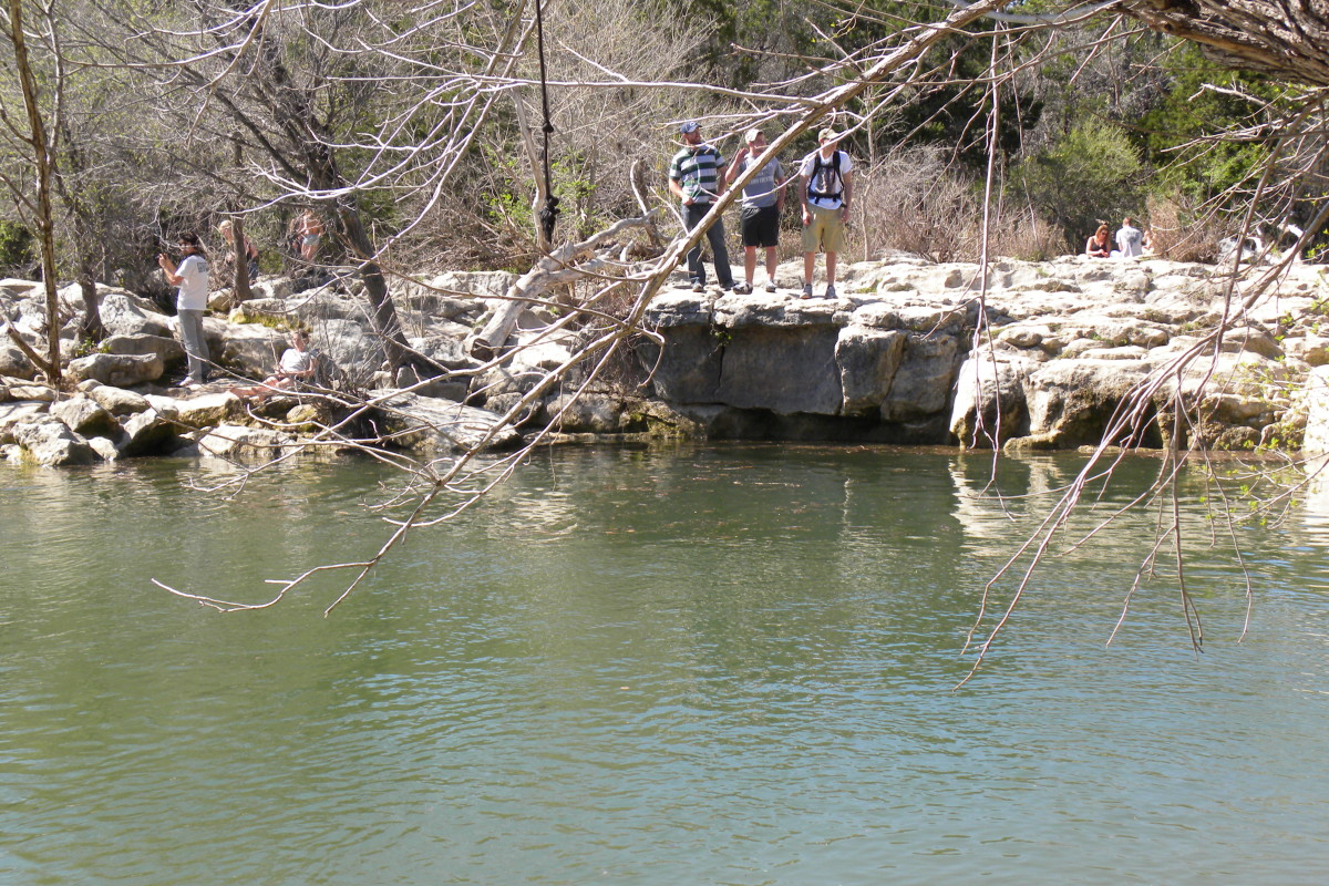 Swimming Holes at Barton Creek Twin Falls Austin TX