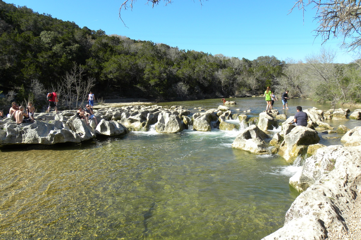 Barton Creek Greenbelt Hiking Trail Austin TX -  Twin Falls on South Mopac Reviews and Things to do in Austin TX