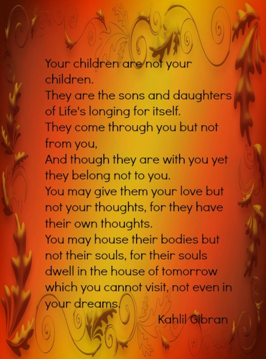 Message to Fathers from Poet Kahlil Gibran