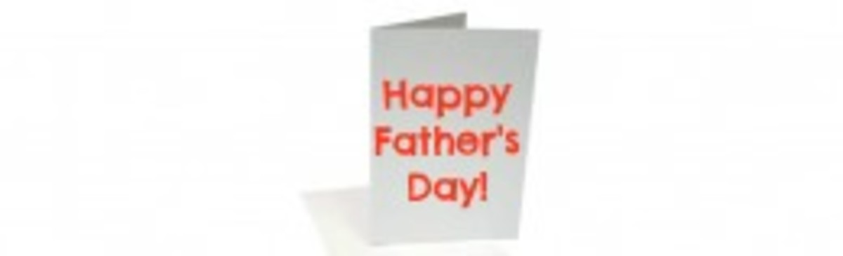 Folded Greeting Card for Fathers