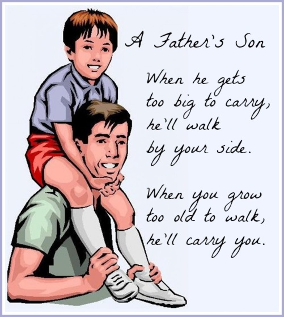 Father's Day Message about Fathers and Sons