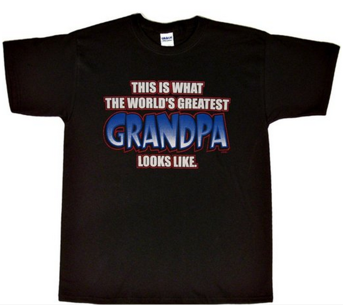 World's Greatest Grandpa Message on T Shirt