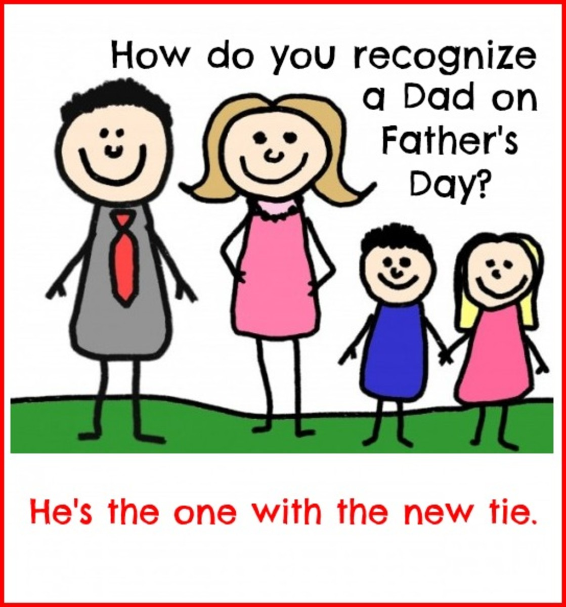 Tie Gift Joke on Father's Day Card