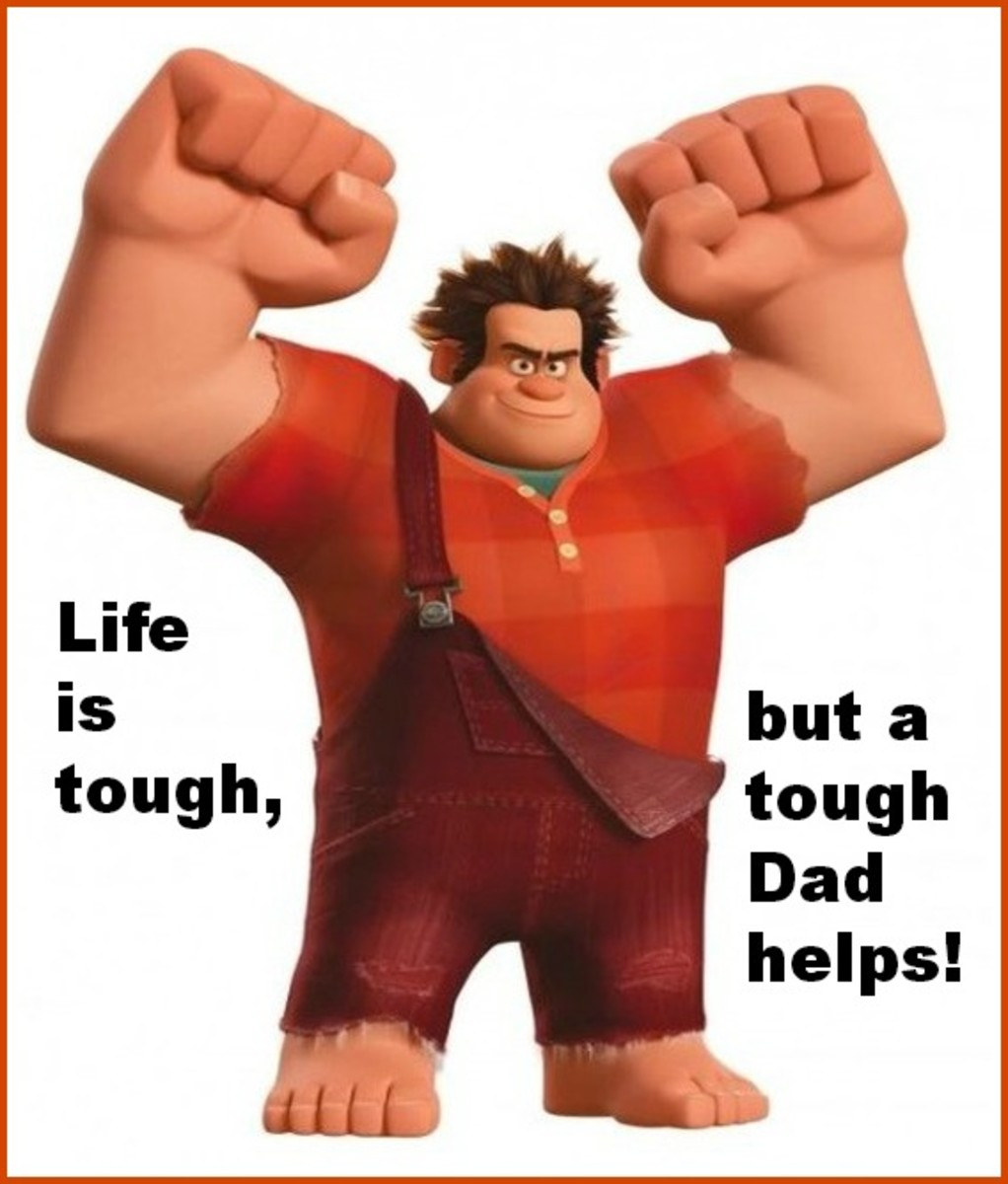 Picture of a Tough, Protective Dad