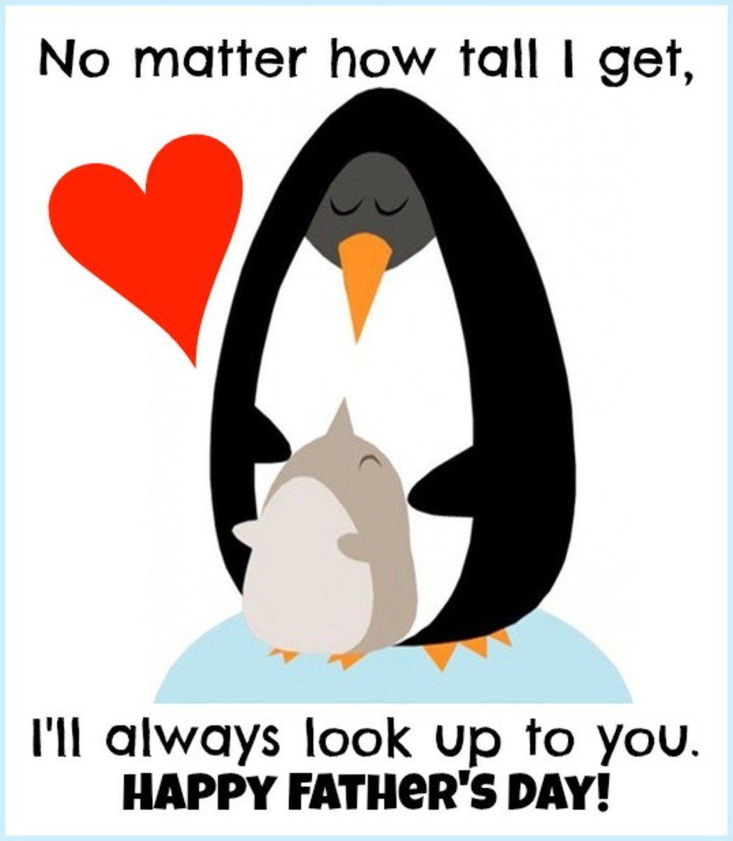 Penguin Happy Father's Day Picture
