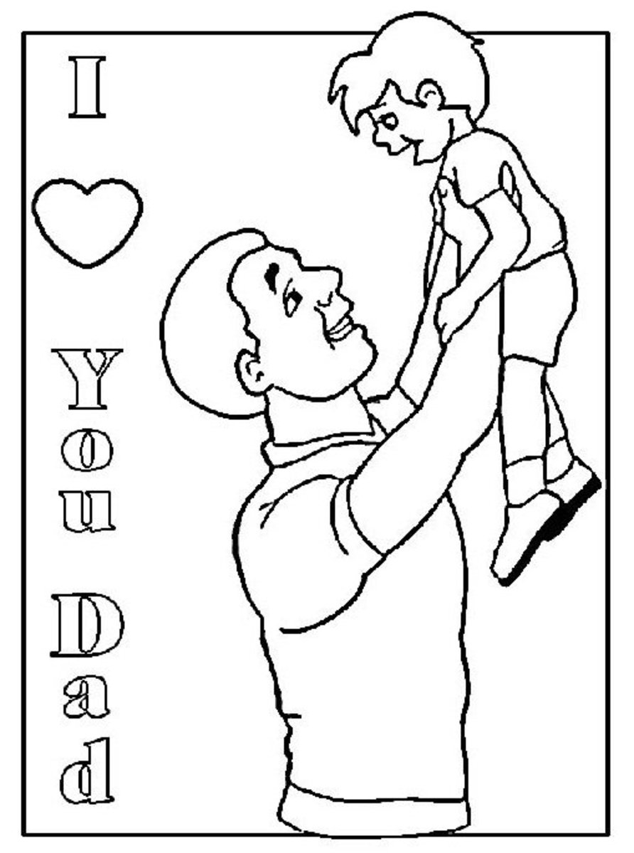 'I Love You Dad' Coloring Page
