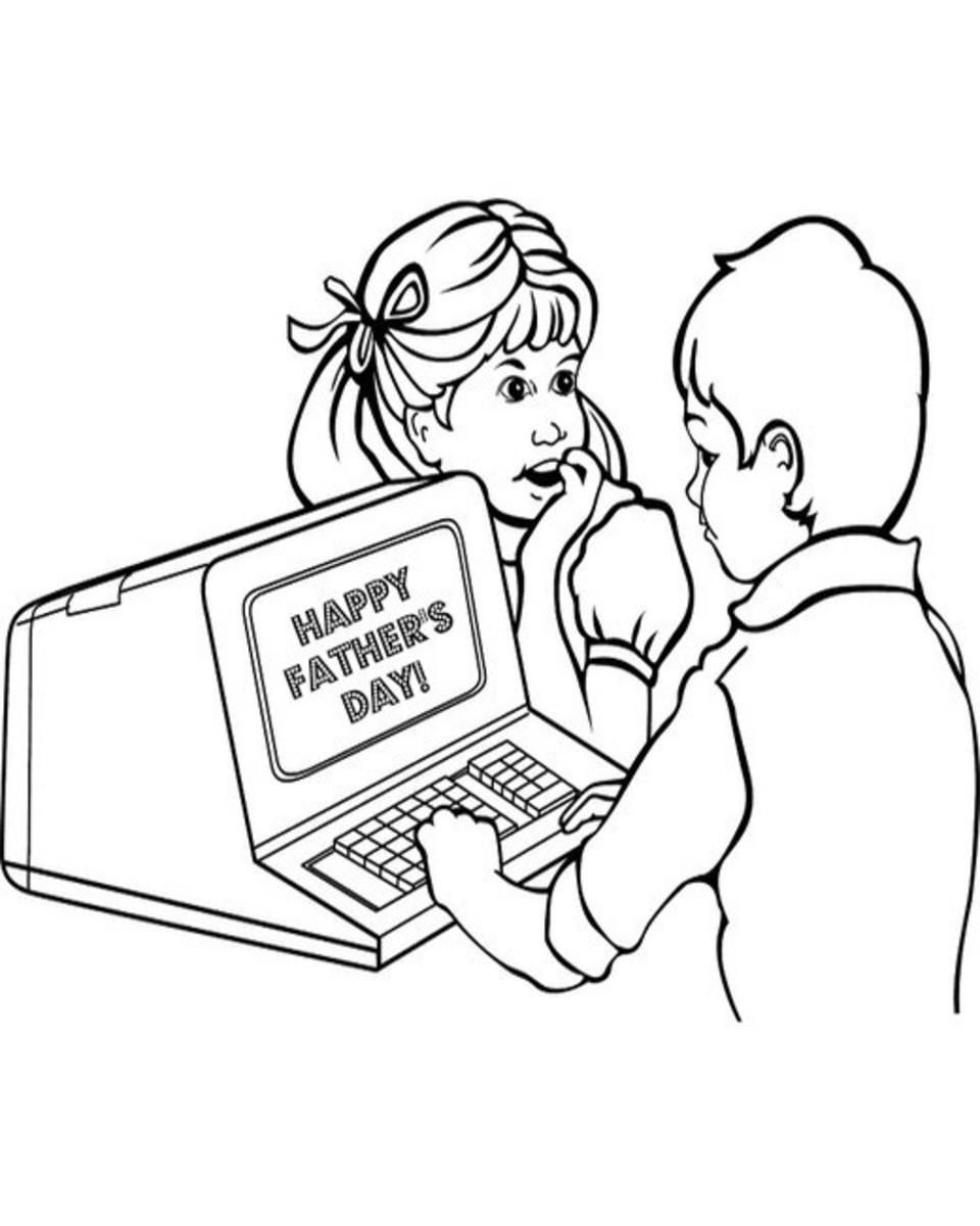 Son and Daughter at Computer