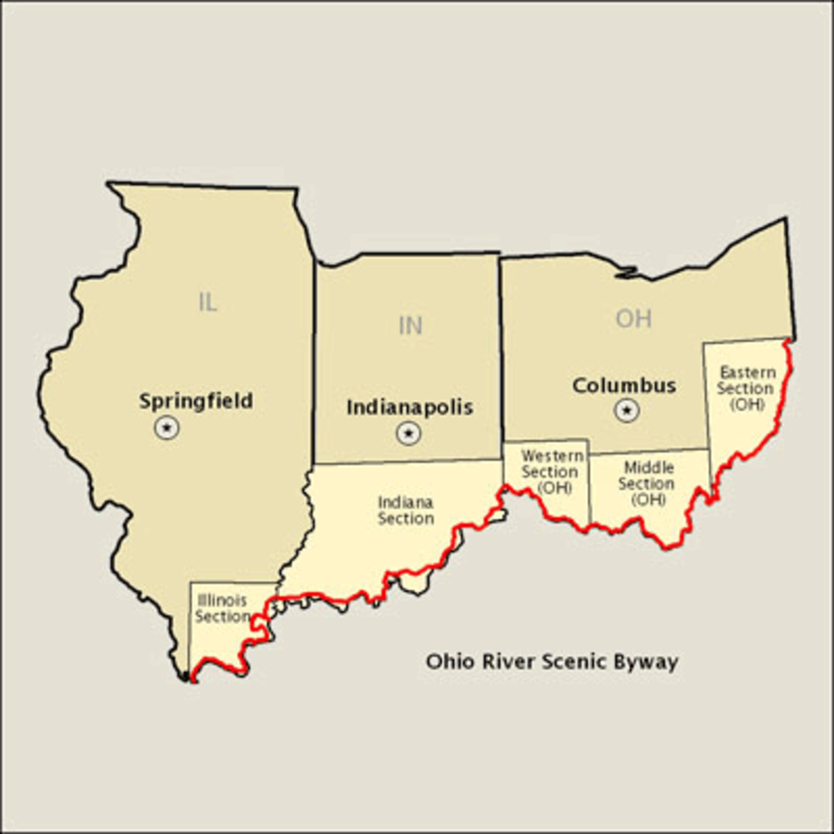 Ohio River Scenic Byway: Illinois, Indiana, Ohio