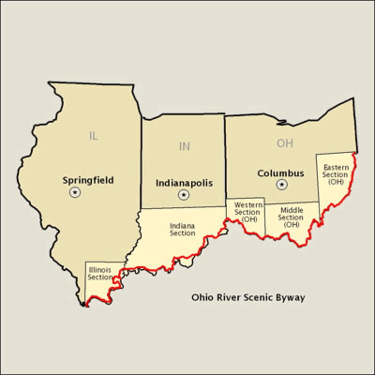 Ohio River Scenic Byway: Illinois, Indiana, Ohio