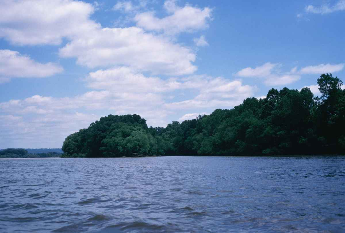 Ohio River Islands: Lesage Island in Southeast Ohio.