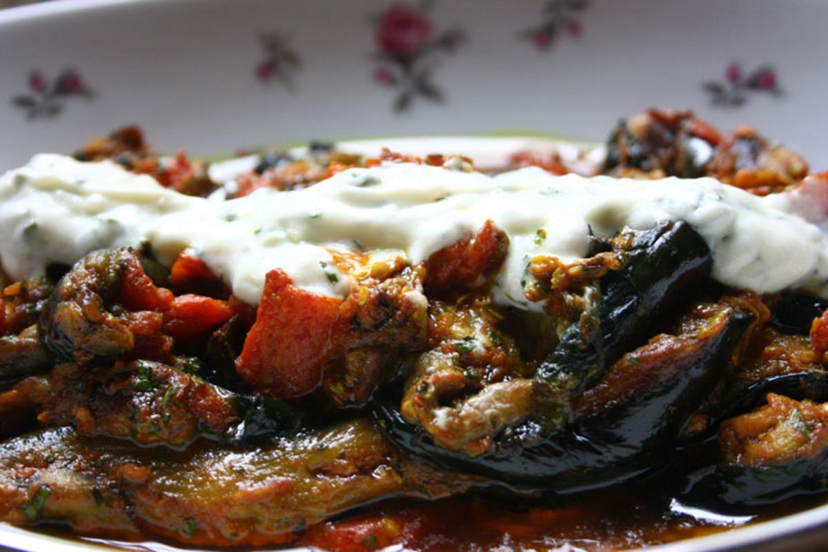 Borani banjan recipe afghan eggplants with tomato yogurt and borani banjan recipe afghan eggplants with tomato yogurt and garlic sauce hubpages forumfinder Image collections