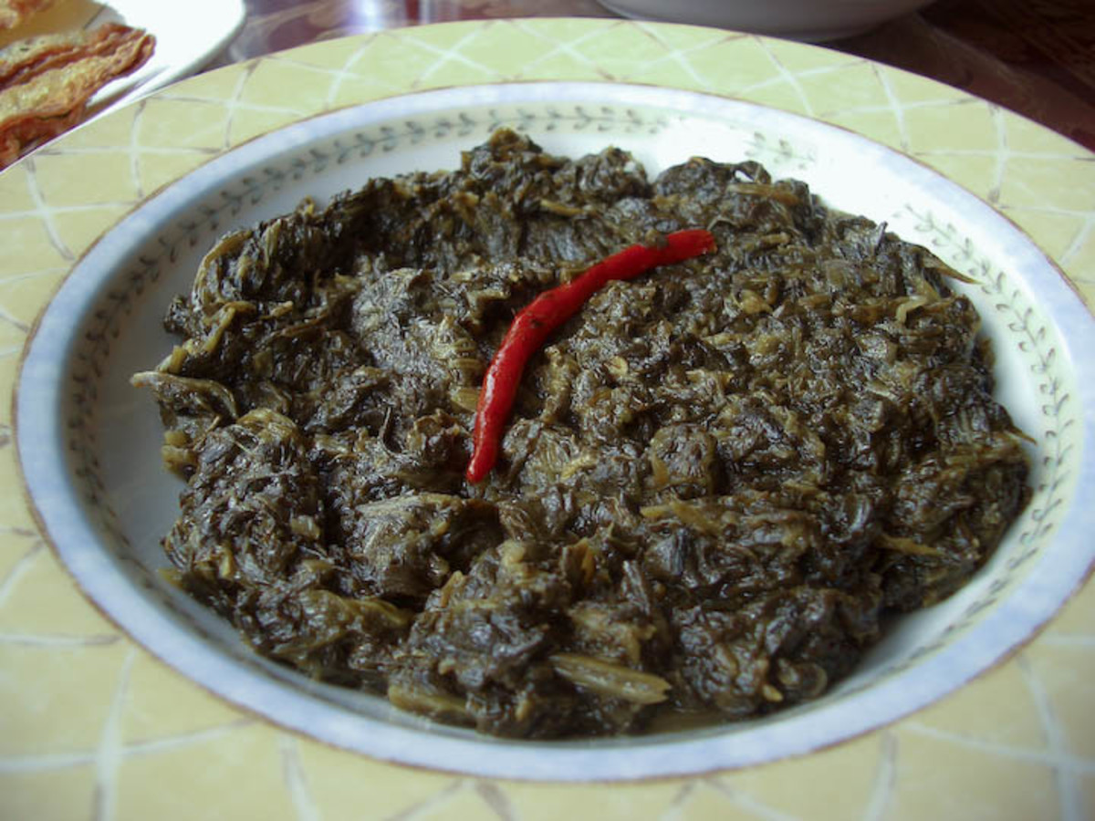 Sabzi (Afghan Spinach Recipe)