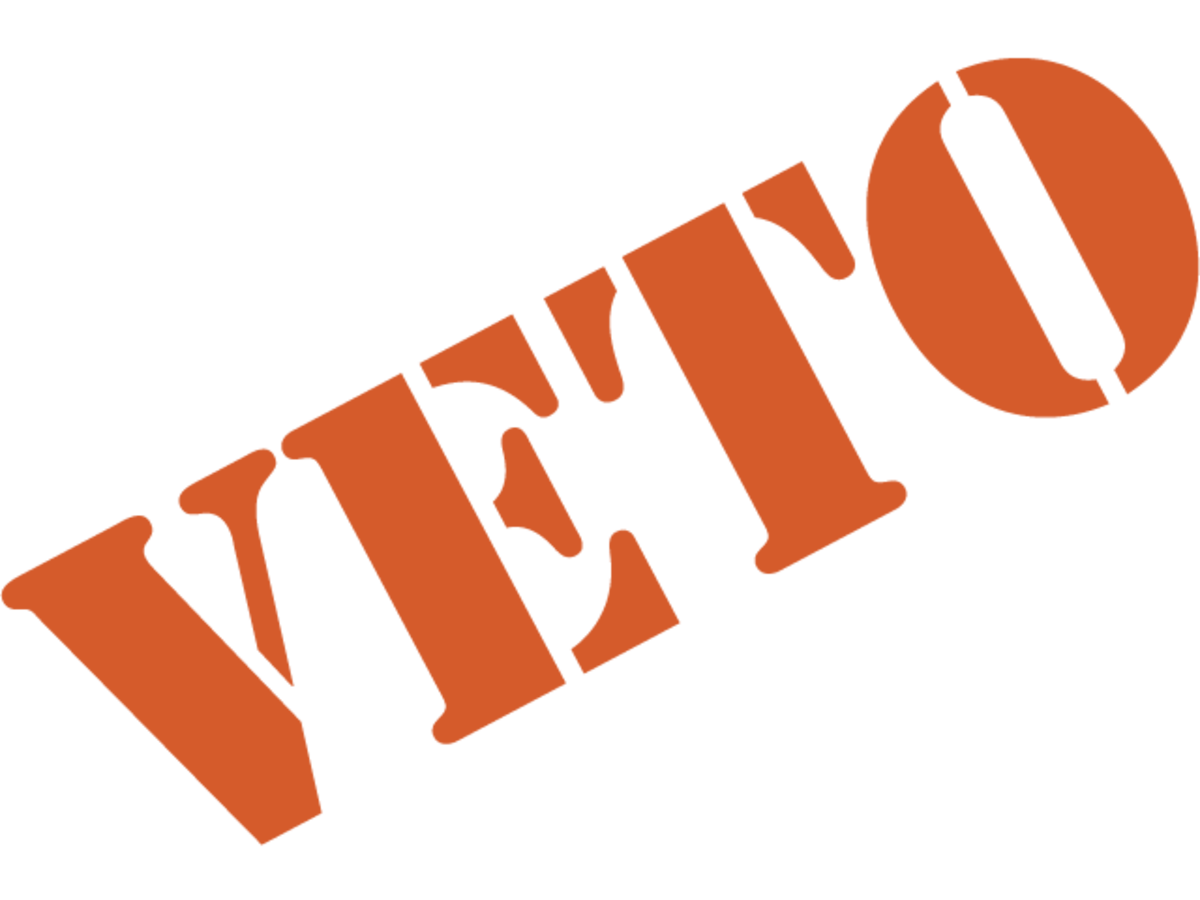 VETO--As for the French president, he cannot stop legislation, but can only impede its progress. And the American president can have his vetoes overridden. However, presidential veto overrides are rare.