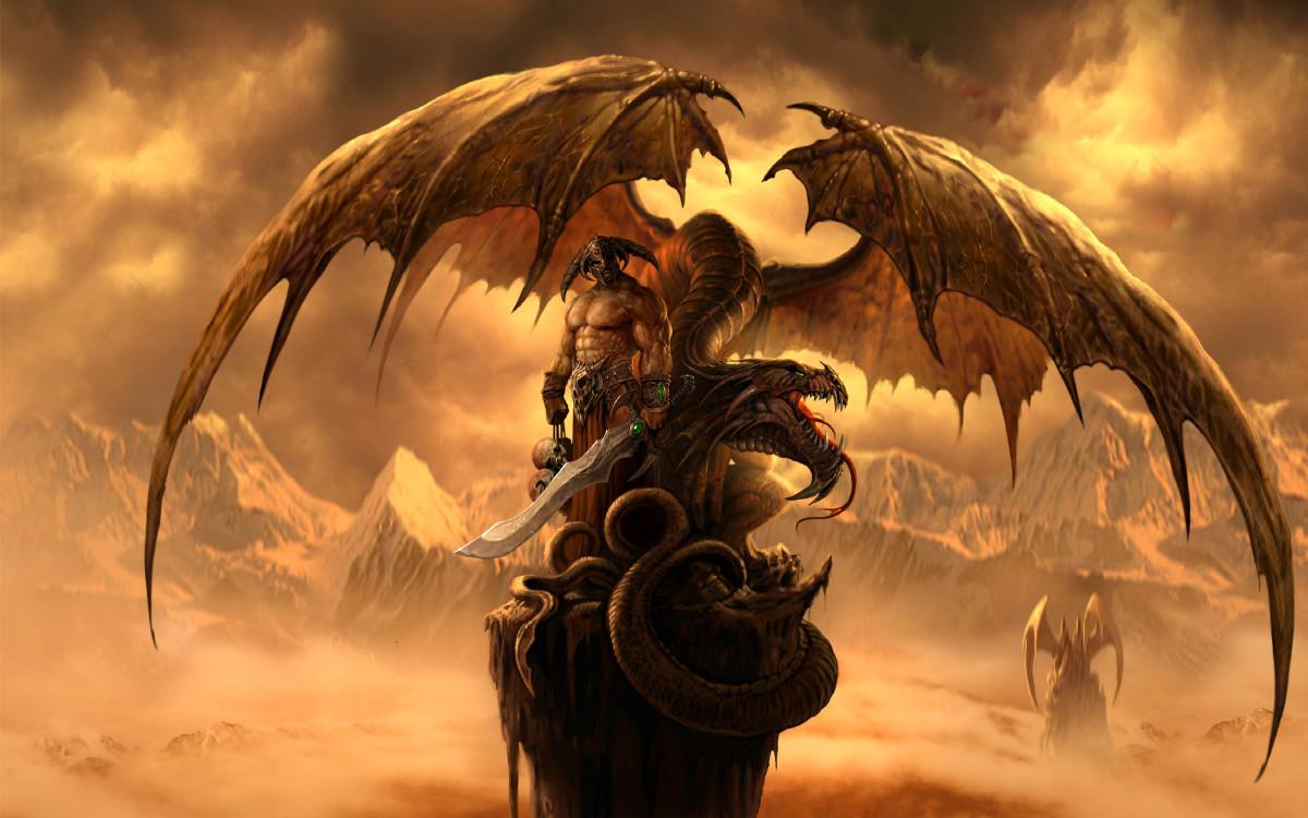 Fantasy dragon image. Diagon looks more like an octopus than a dragon