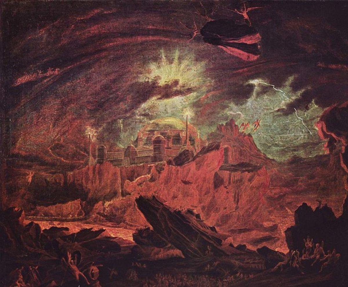 Fallen angels in Hell - John Martin (1789–1854) PD-art-100