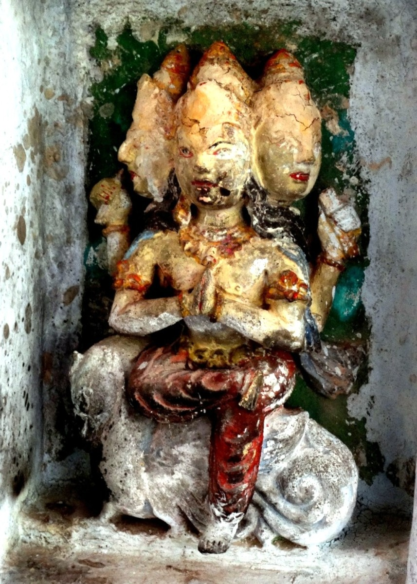 The four-faced Bramha in the Shiva temple