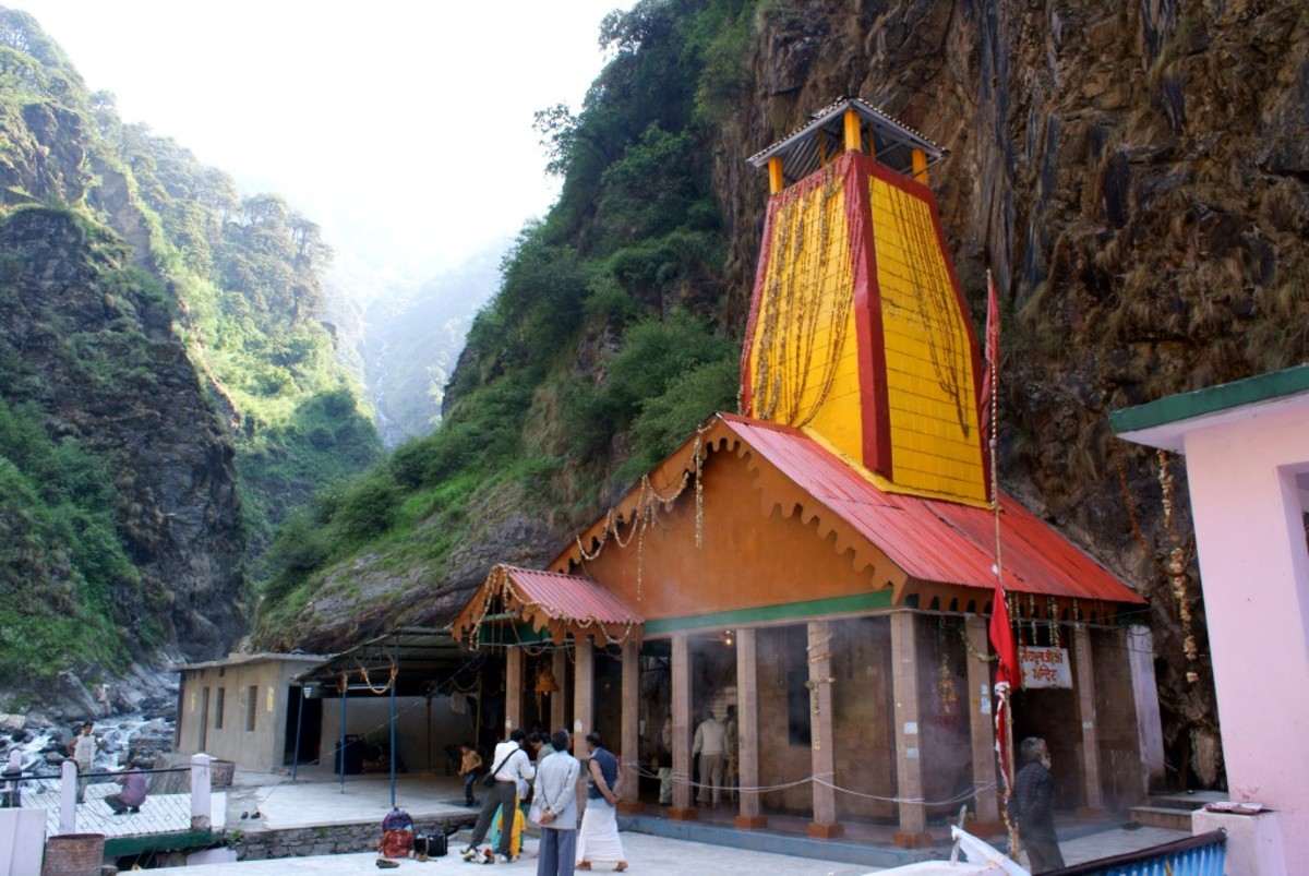 The temple of Yamunotri in the Garhwal Himalayas