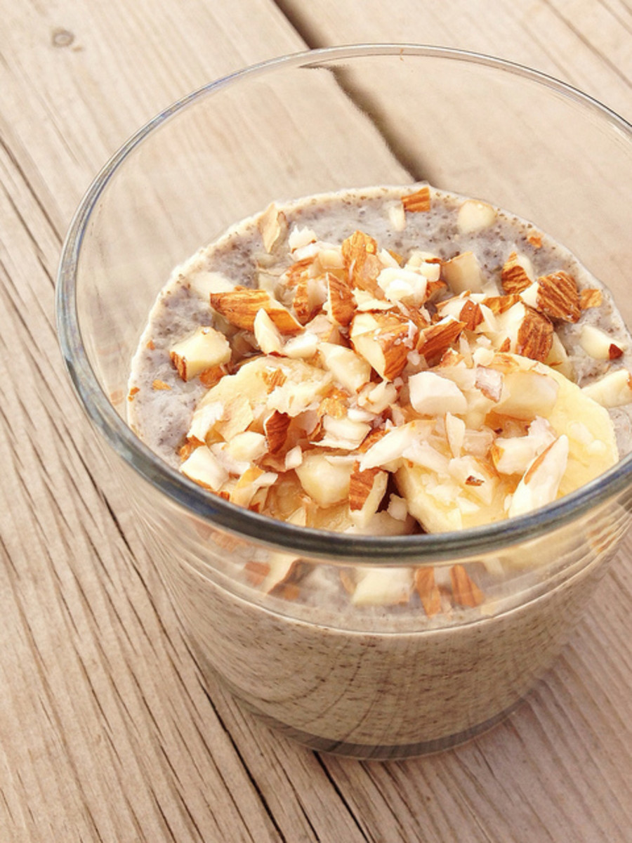 Chia Seeds in banana pudding