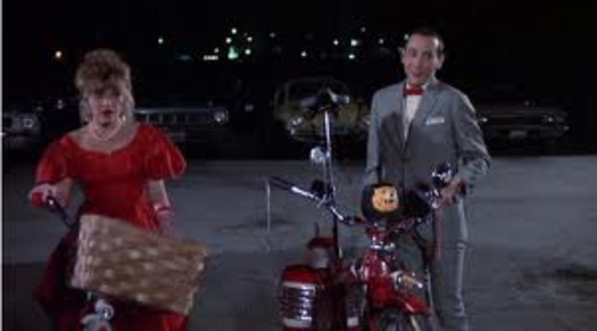 The ending of Pee Wee's Big Adventure takes place at the drive-in.