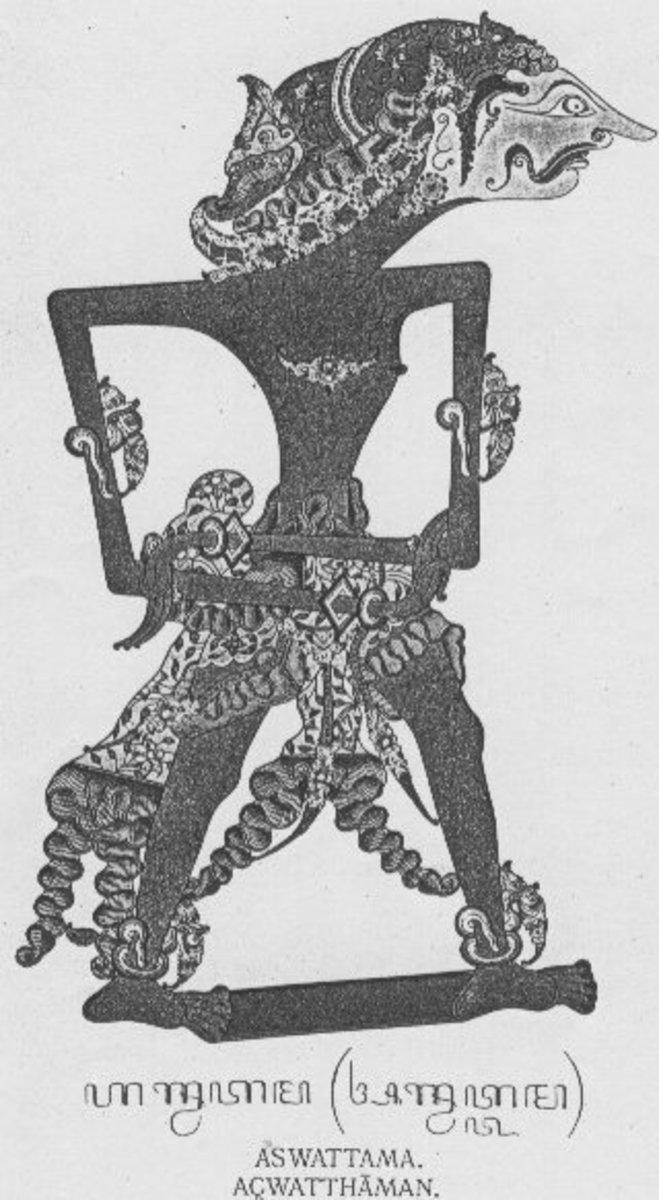 Shadow Puppet of Ashwatthama from Java