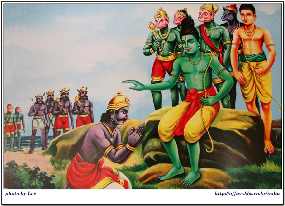 Vibhishana and Lord Rama