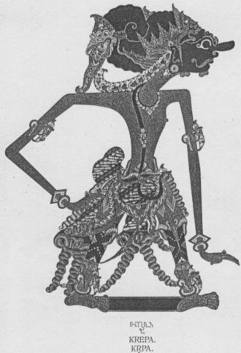 Kripacharya, shadow puppet Wayang Art form