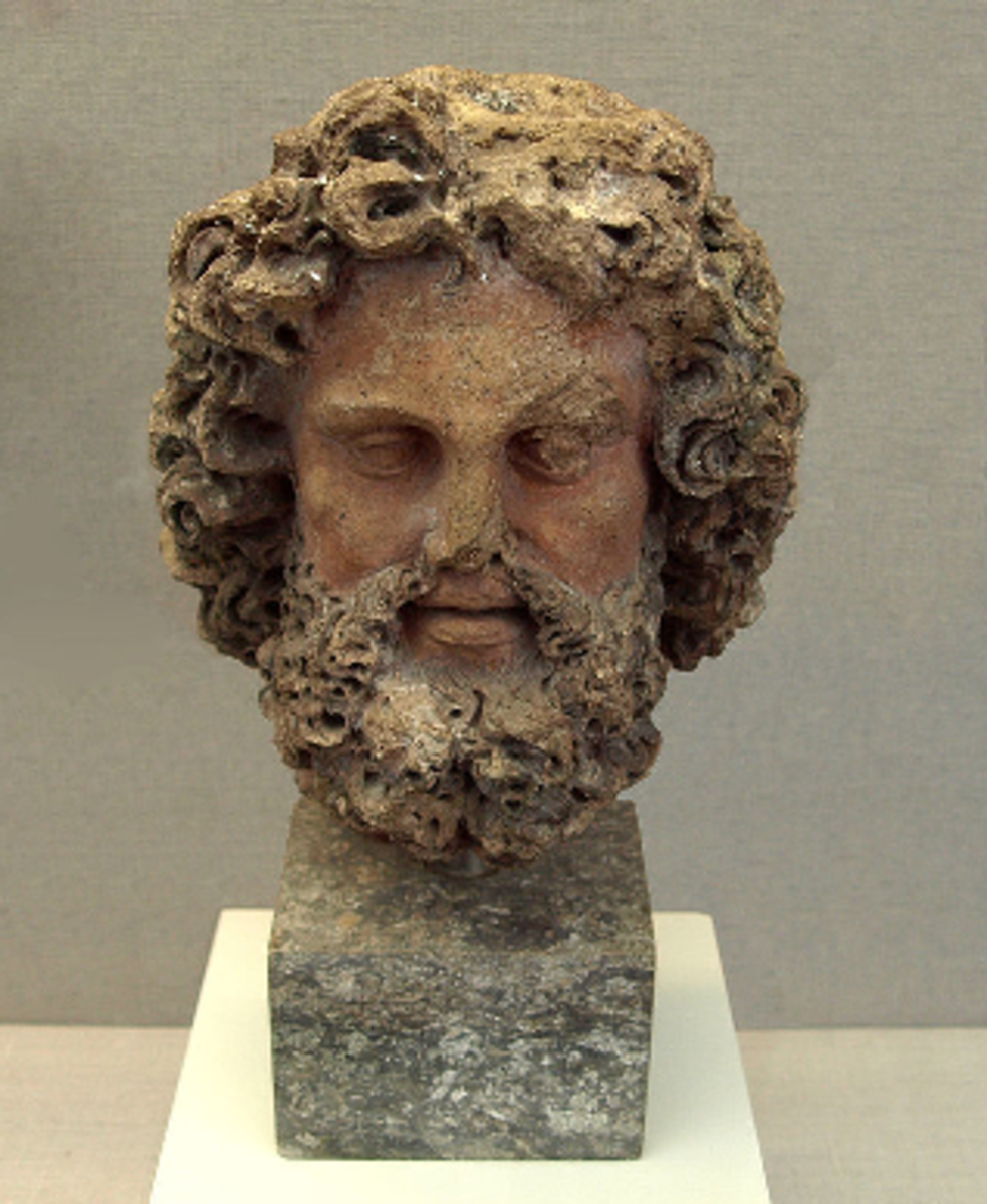 The Etruscan god Tinia (Zeus/Jupiter)