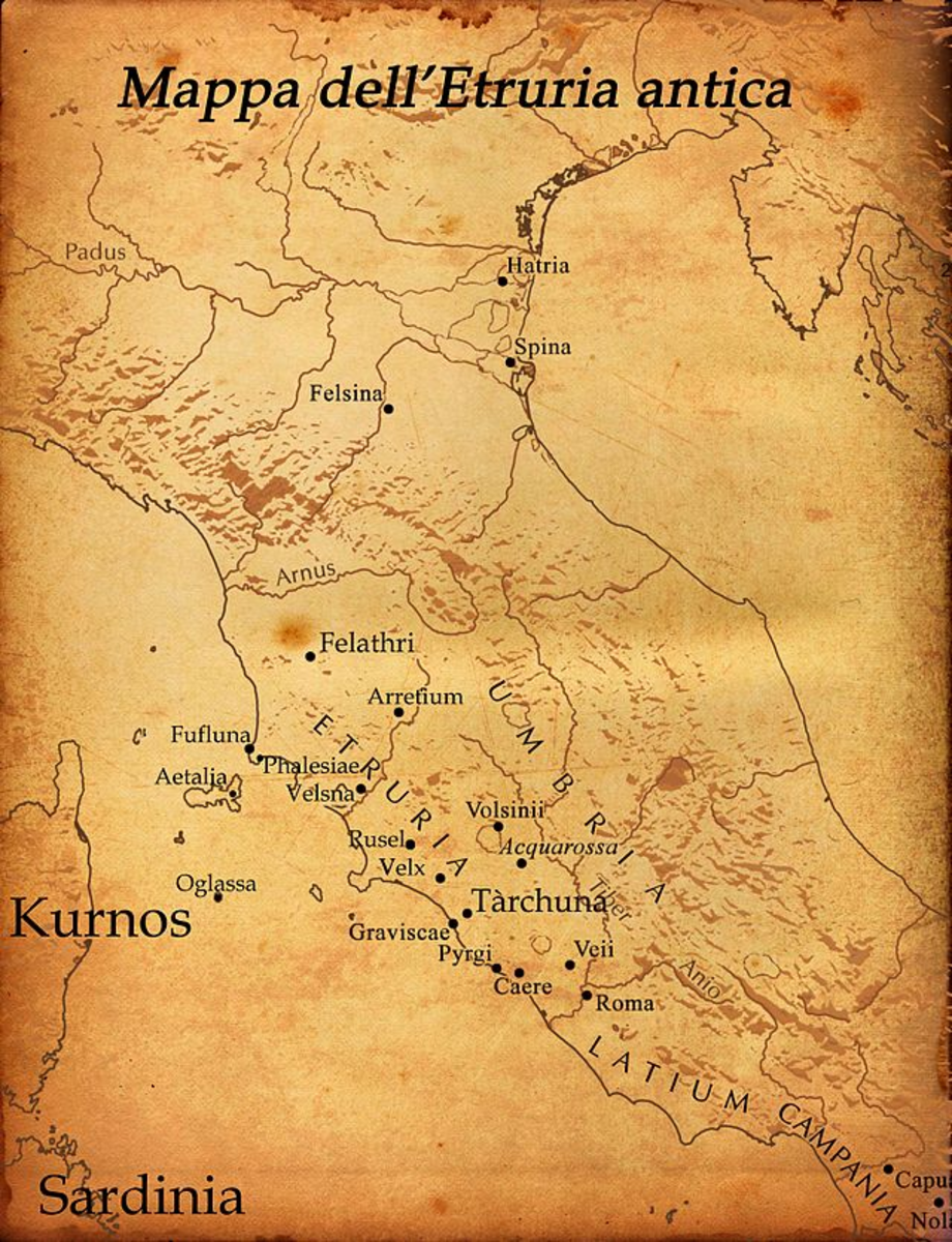 Map of Etruria
