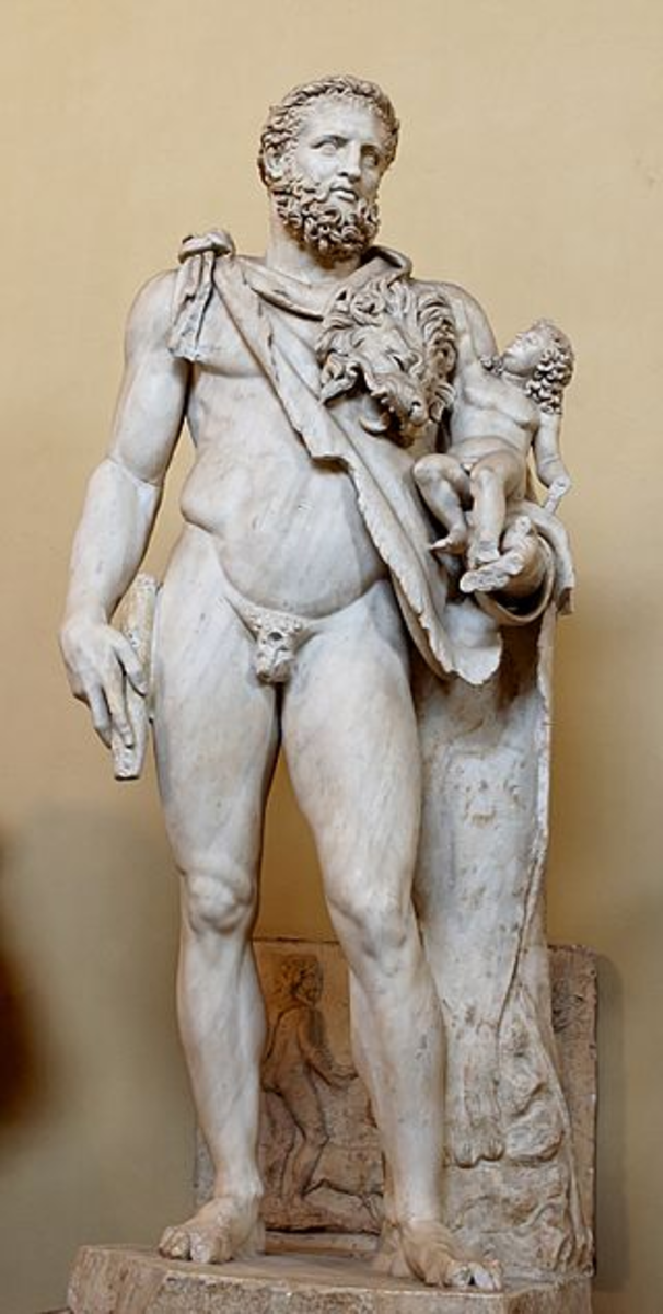 Heracles with his son Telephus father of Tarchon and Tyrrhenus